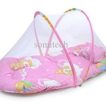 Baby Bed cradle Crib with Folding Mosquito Net