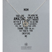Dogeared Sterling Silver Mom Floral Bloom Necklace
