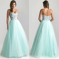 Elegant Lady Strapless Dress Sexy Women Sleeveless Prom Gown Sequins Bridesmaids Long Floor Length Dress Vestidos
