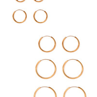FOREVER 21 Graduated Hoop Set Gold One