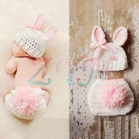 Newborn Baby Girl Boy Crochet Knit Beanie Costume Photo Photography Prop Cap Hat For New Born Baby Kids
