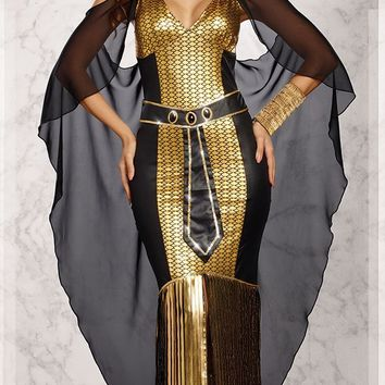 Sexy Egyptian Queen Costume Halloween Egypt Goddess Cleopatra Cosplay Fantasia Fancy Dress