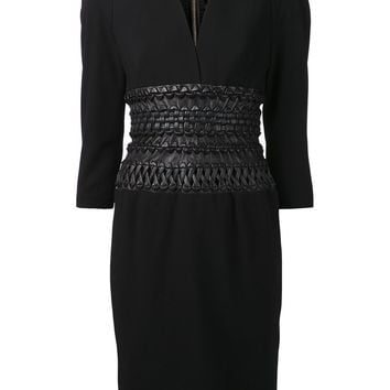 Alexandre Vauthier braided belt dress