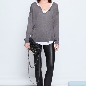 Zadig & Voltaire anthracite celsa bis cop woman sweater