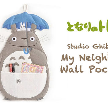 Strapya World : Studio Ghibli My Neighbor Totoro Wall Pocket Type Pouch【Stationery】