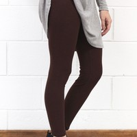 Favorite Comfy Leggings {Dark Brown}
