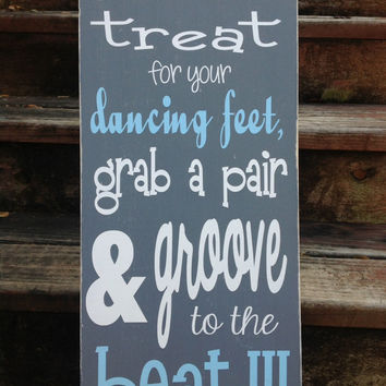Flip Flop Sign - Wedding sign - a little treat for your dancing feet - Shoe Sign,Dance Sign, Reception Sign, Barn wedding