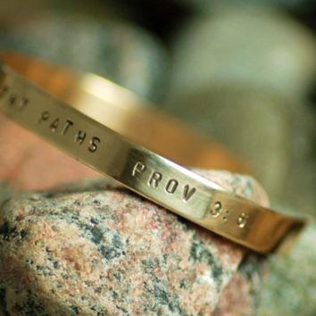 Cuff Bracelet 'And He Shall Direct Thy Paths' by TatumBradleyCo