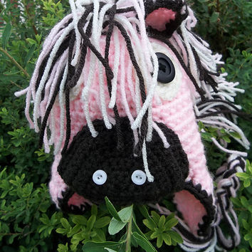 CROCHET PATTERN Horse Earflap hat INSTANT Download / Crochet Hat Pattern / Crochet horse hat pattern for girls / free pattern for birthday
