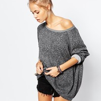 Element Boyfriend Sweatshirt In All Over Leopard Print Co-ord