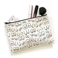 Boobies Zipper Pouch Makeup Bag