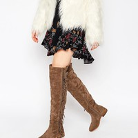 Truffle Collection Orla Fringe Over The Knee Boots