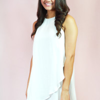 with the flow dress - off white