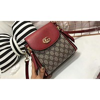Gucci counter section of women's beautiful but not outdated backpack F-AGG-CZDL Red