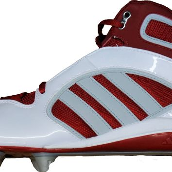 Adidas Defense Lax D Mid ~ Lacrosse/Football Cleats~ Detachable ~ White/University Red