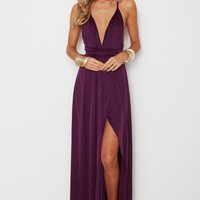 Akela Maxi Dress Plum - Clothing