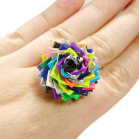 One of a Kind Duct Tape Rose Ring - No. 8