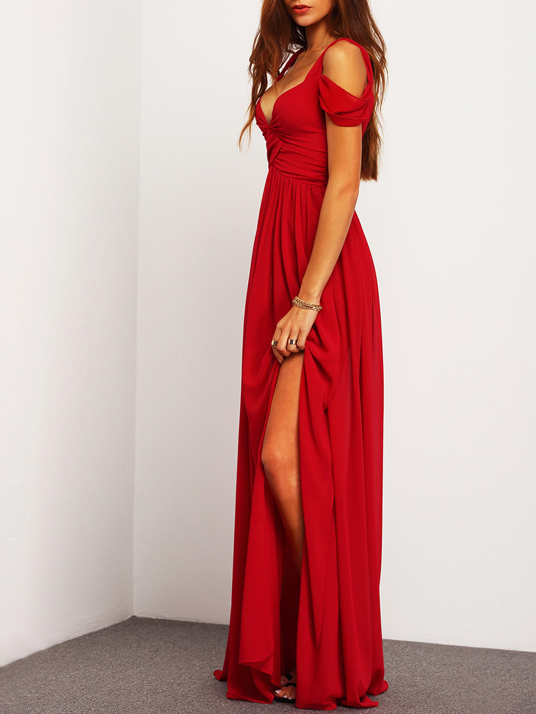 0fd60e48b48a ♡ Red Off The Shoulder Maxi Dress ♡ from Crystalline