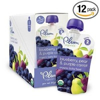 Plum Organics Baby Food, Blueberry, Pear & Purple Carrot, 4.22-Ounce Pouches