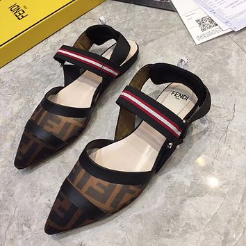 Fendi Women Fashion Casual Sandals Shoes Flats Shoes