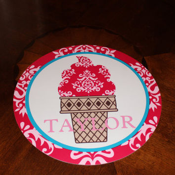 Personalized Custom Round Ice Cream Placemat In by OwlOutfitters