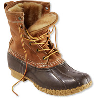 "Women's Tumbled-Leather L.L.Bean Boots, 8"" Shearling-Lined"
