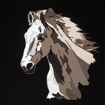 Wild Horse With Hidden Pictures - Art Print