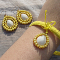 Sunshine Bangle and Earrings set