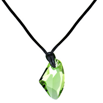 Peridot Avant-Garde Necklace Created with Swarovski Crystals