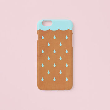 iPhone 6 Plus case - Rain - iPhone 6 case, iPhone 6s case, iPhone 6 Plus case, w/ Good Luck Gold Sticker, non-glossy C12