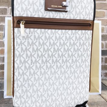 Michael Kors Travel Trolley Carry On Suitcase Vanilla MK Signature
