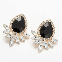 Wholesale Hot Sell women Jewelry 2016 Good Quality 9 Color Fashion Vintage Crystal Stud Earring For Women Statement Earrings
