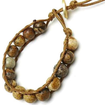Mixed Natural Stone Cord Bracelet