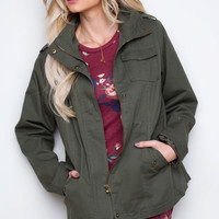 Afternoon Adventure Military Jacket