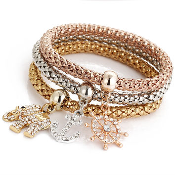 On Sale Hot Deal Bedroom Pendant Bangle Lock Alloy Stretch Bracelet Jewelry Bedding Set [6368948996]