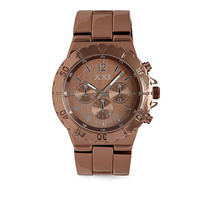 FOREVER 21 Chunky Chronograph Watch Chocolate One