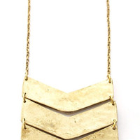 Chevron Necklace: Gold