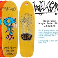 Welcome Skateboards — Saberskull 9.5 Magic Bullet shape
