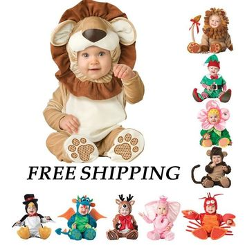 2018 Baby Rompers Newborn Bebe Clothes Animal Pirate Dinosaur Penguin Santa Claus Carnival Christmas Halloween Costume for Kids