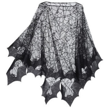 Spider Web Poncho - New Age, Spiritual Gifts, Yoga, Wicca, Gothic, Reiki, Celtic, Crystal, Tarot at Pyramid Collection