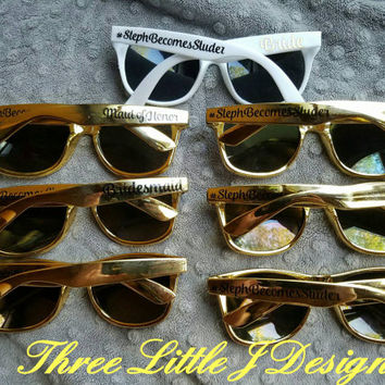 Personalized Wayfarer Sunglasses, Custom Wedding Favor, Bachelorette Gifts, Bachelorette Party Favors, Destination Wedding, Party Favors