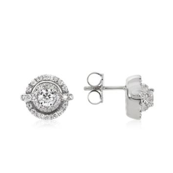 Forzieri Designer Earrings 0.84 ctw Diamond 18K White Gold Earrings