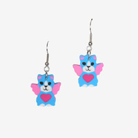 Lisa Frank Kitty Eraser Earrings By ECH