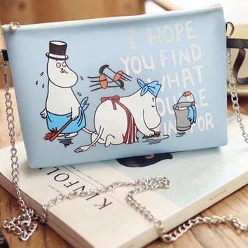 2017 New Summer Transparent Jelly Moomin Little My Girl Cartoon Cute Handbag Women Bag Birthday Gift