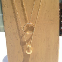 Circle + Nugget Necklace
