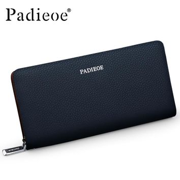 Luxury Fashion Men Clutch High Quality Long Wallet for Male Genuine Leather Men's Card Holder Phone Pocket Casual