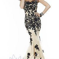 Long Strapless Sweetheart Dress by Tiffany