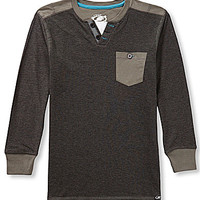 First Wave 8-20 Pique Notch V-neck - Grey