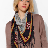 Boho Fringe Triangle Scarf - Urban Outfitters