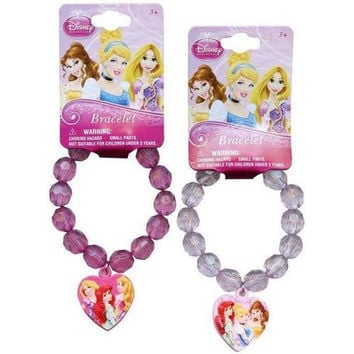 Disney Princess Plastic Charm Bracelet [set of 8]